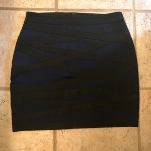 Express Small Blue with Black Mini Skirt